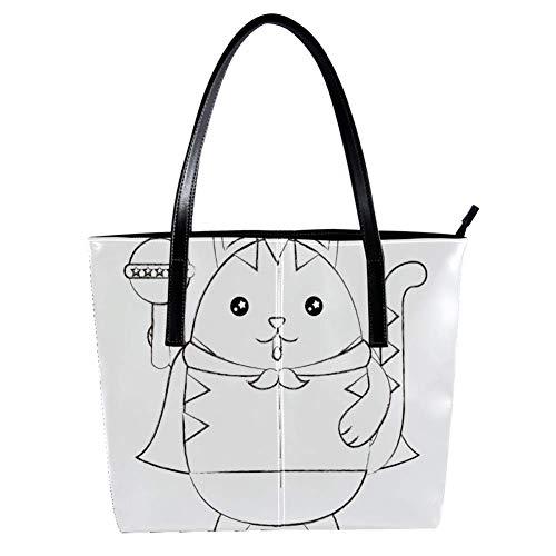 Cute Kawaii MouseWomen's Handbags, soft leather handle bag Handle Satchel Bag for Work Travel Large Messenger Bag
