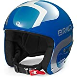 Briko Vulcano Fis 6.8 Multi Impact Casque de Ski/Snow, Adulte, Unisexe, Shiny Blue-Silver, Medium