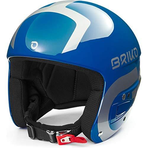 Briko Vulcano Fis 6.8 Multi Impact Casque de Ski/Snow, Adulte, Unisexe, Shiny Blue-Silver, Large