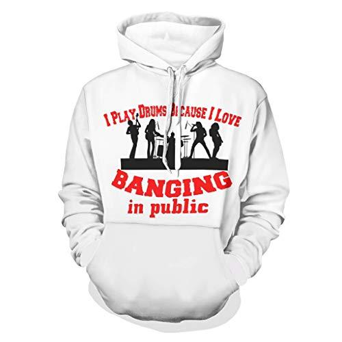 DAMKELLY Store Sudadera con capucha para hombre, estilo hip-hop con bolsillo frontal, corte holgado, color blanco, 4XL