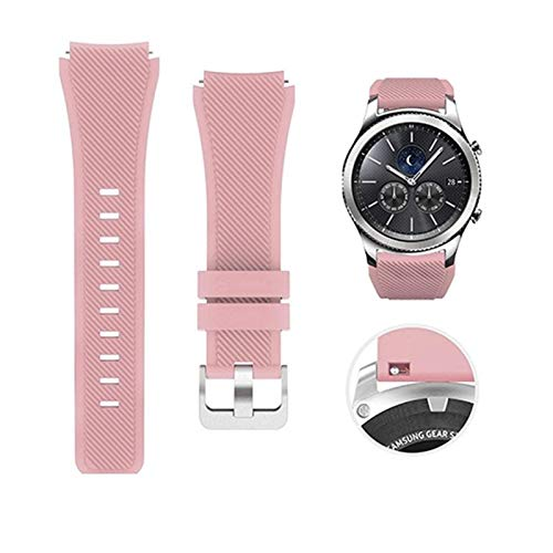 LYDBM Banda de Silicona de 22 mm para Samsung Galaxy Watch 46mm 42mm Correa Deportiva para Samsung Gear S3 Frontier/Clásico Activo 2 Huawei Watch 2 (Color : Color 9, Talla : For Gear S2)