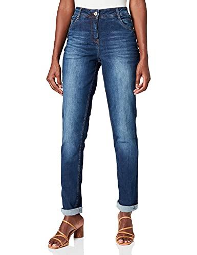 Denim Jeanshose Slim Fit High Waist Slim Legs
