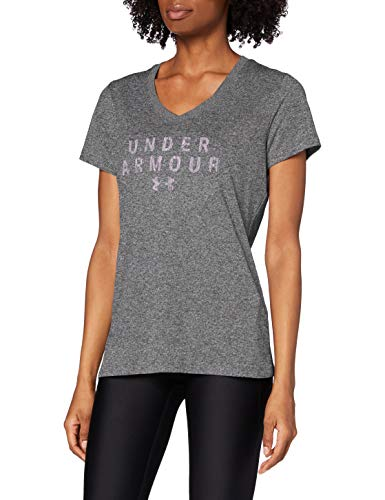 Under Armour Tech SSV Graphic T-Shirt Femme, Gris, L