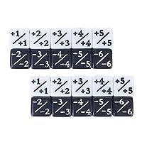 Tomaibaby 20個子供教育カウンターサイコロトークンサイコロ忠誠サイコロキューブサイコロ数学ゲーム就学前のゲームサイコロおもちゃ