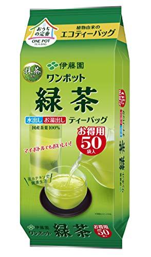 伊藤園 ワンポット 抹茶入り緑茶 (エコティーバッグ) 3.0g×50袋×4個