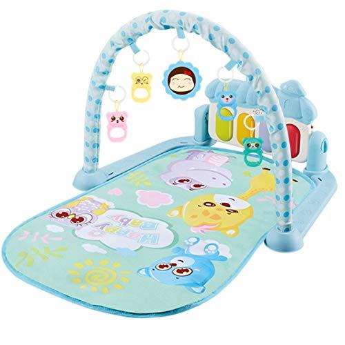 iBaste Alfombra de juegos para bebé con música y luces, alfombra de juegos para bebés, manta de actividades para gatear, gimnasio para bebés