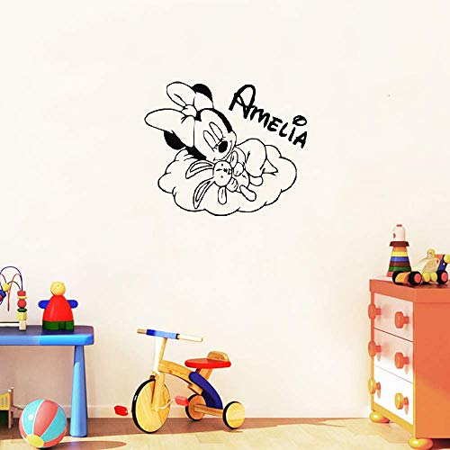 Stickers muraux Mickey et Minnie Mouse Sweet Dreaming Little Minnie Mouse Art Home Nursery nom chambre belle spéciale bricolage affiche