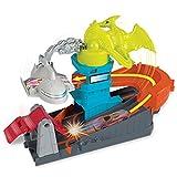 Hot Wheels City Dino-Ataque al Aeropuerto, Pistas de Coches de Juguetes nios +4 aos (Mattel GBF94)