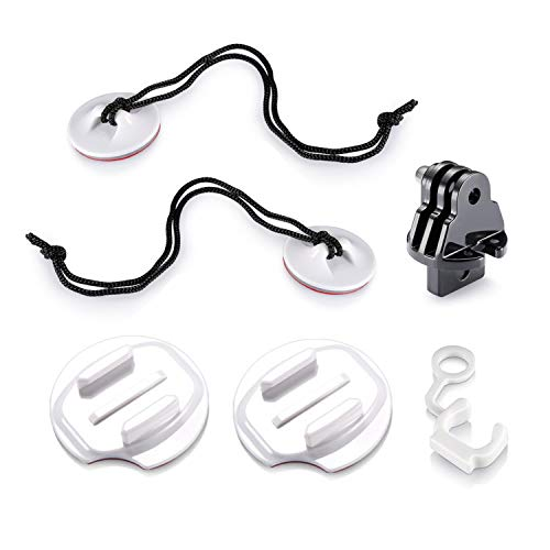 Hooshion 8 Pack Accessories Kit Bodyboard Wakeboard Foam Surfboard Mount Kit Surfing Mount with Anti-Lost Strap Car Mount Kit Multi-Used for GoPro Hero 8/7/6/5/4/3+/3/2/1 (White)