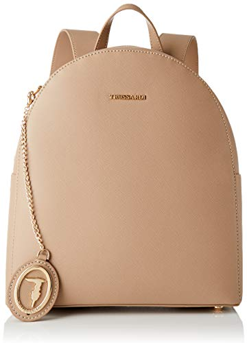 Trussardi Jeans, MOSCA BACKPACK MD SAFFIANO ECO Donna, Sand, NR