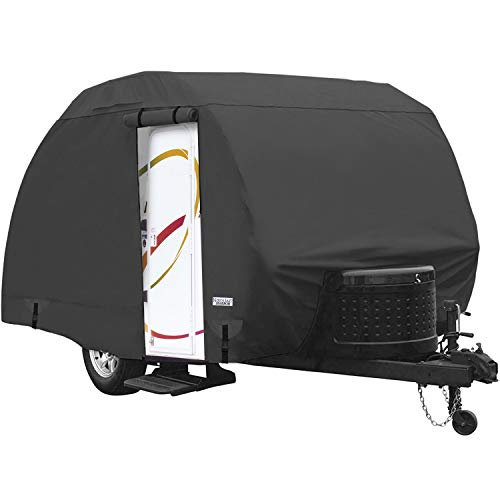 Waterproof Durable Teardrop R-Pod Travel Trailer Storage Cover Fits Up to 13' 7' Long and 6' Wide Trailers - Direct Fitment for Forest River R-Pod Model RP-151