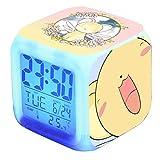 Kenyaw Reloj Despertador para Niños, Reloj Despertador Led para Niños, Reloj Despertador Digital con Luz, Reloj Despertador con Cambio De 7 Colores, para Dormitorio Junto A La Cama