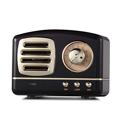 Local Makes A Comeback - Altavoz Bluetooth Retro, Radio Inteligente Inalámbrica, Bajo, Tarjeta de Audio, Mini Regalo Creativo,negro 2