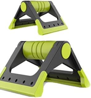 TT WARE Fold Push up Bar Stands Slip Resistance With Padded Handles Great For Upper Exercise Tools Pu-Green