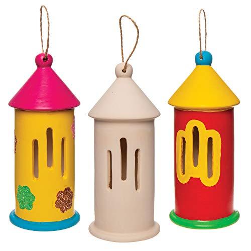 Baker Ross Keramik-Schmetterlingshäuschen (2 Stück) – Keramik zum Bemalen für Kinder