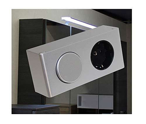 Kombi-Box 230V mit Schalter Steckdose Energiestation / Art. 4188 / Küchensteckdose Spiegelschrank Möbelbeleuchtung Helitec