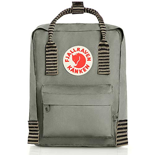 Fjallraven, Kanken Mini Classic Backpack for Everyday, Fog/Striped
