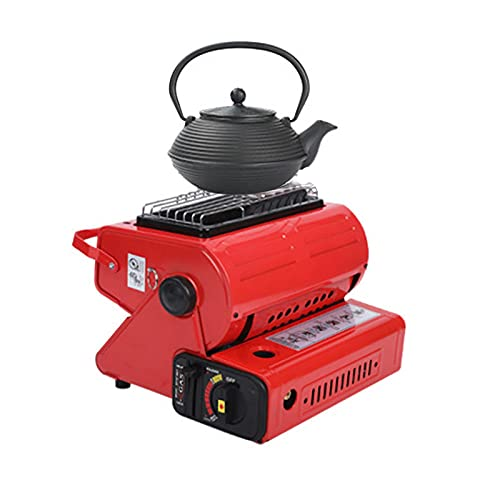 Calefactor de gas de cerámica 2 en 1, estufa de gas portátil, calefactor de gas para camping, pesca, tienda de campaña, coche, calefactor de cocina, 25 x 24 x 20 cm