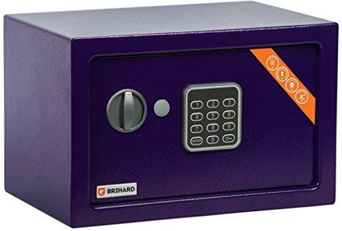 Brihard Home Tresor Safe mit Elektronischem Schloss, 20x31x20cm (HxWxD), Marine Blau