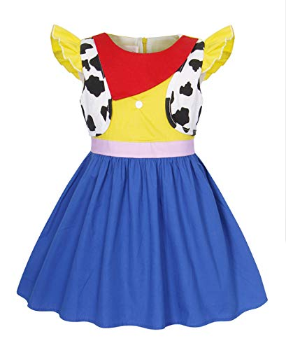 AmzBarley Princess Dress for Girls Halloween Cosplay Role Play Dress up Child Cowgirl Costume Outfit Kids Wild West Fancy Party Dresses Size 8