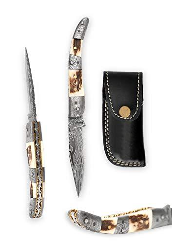 Damaszener-Taschenmesser, Kunstwerk, für camping, Überlebenstraining