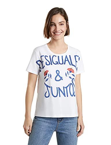 Desigual TS Juntos Camiseta, Blanco, S para Mujer