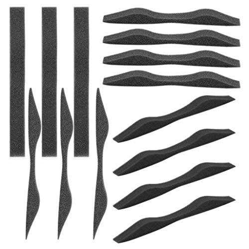 50 Stück Schaumstoff-Nasensteg-Pads, Memory-Schaum, selbstklebend, Schutzschaumstreifen für Gesichtsbedeckung im Freien