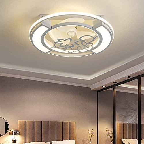 HMMHHE Ventilador de techo con iluminación, ventilador moderno de 60W con función de control remoto Lámpara de techo regulable regulable Lámpara de techo regulable Ventilador de techo de velocidad, es