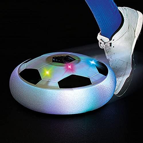 Brigamo Hoverball, schwebender Luftkissen Indoor Fußball mit LED Beleuchtung und Möbelschutz