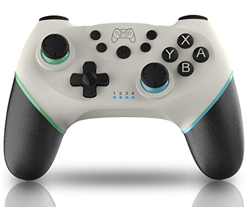 Maegoo Mando para Nintendo Switch, Mando Switch Bluetooth Inalámbrico Gamepad Joypad Joystick Sensor de Soporte 6 Gyro Axis, Turbo Función y Dual Motor Vibration - Nueva Versión 2020