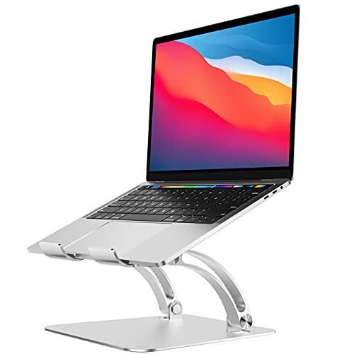 Supporto pc portatile,supporto laptop,Supporto ergonomico in alluminio,Compatibile con MacBook, Air, Pro, Dell XPS, Samsung, tutti i computer portatili da 10 a 16 , colore: Argento