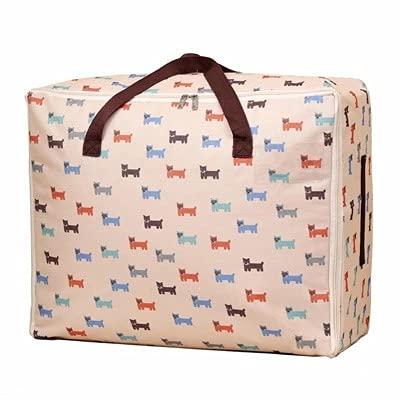 XKMY - Borse per biancheria da letto, in cotone Oxford, trapunta, borsa per riporre oggetti, organizer per valigie, organizer per gadget, con chiusura a zip