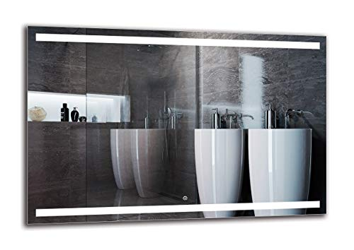 ARTTOR Espejos De Baño con Led - Espejo Pared. Decoracion Hogar - Espejos Decorativos De Pared - Muchos Tamaños - Pequeños y Grandes - M1ZD-30-120x80