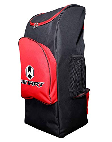 WINART Professional Cricket Kit Bag-Sports Bag-Backpack-Cricket Bag (Multicolor) (Red)