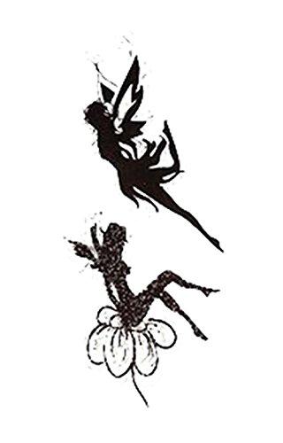 1 Satz schöner Engel Muster Tattoo-Aufkleber wasserdicht