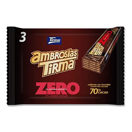 Tirma Ambrosía Zero 70% Cacao, Sin Azúcares Añadidos (3 Unidades X 21,5 G) 64,5 G, Chocolate, 64.5 Gramo