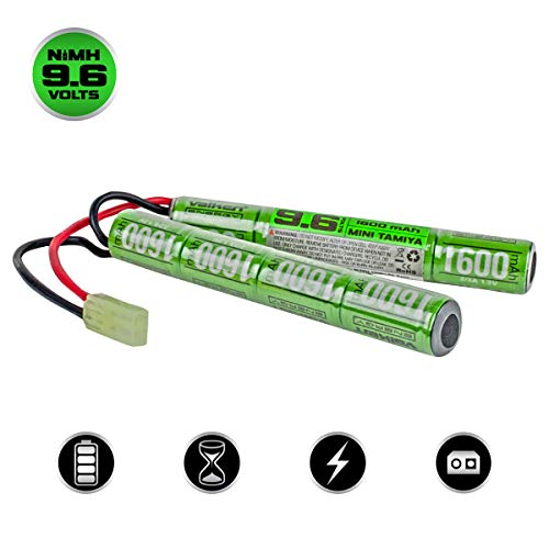 Valken Airsoft Battery - NiMH 9.6v 1600mAh Split Style