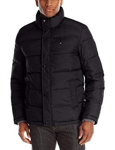 Tommy Hilfiger Men's Classic Puffer Jacket, Black, Large