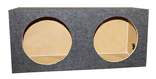 "Q-POWER 10"" Dual Sealed Car Audio Subwoofer Sub Box Enclosure 