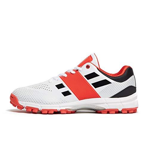 Graue Nicolls Velocity 2.0 Rubber Cricket-Schuhe für Herren, Weiß, 44