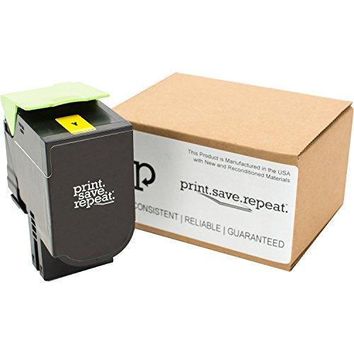 Print.Save.Repeat. Lexmark 801HY Yellow High Yield Remanufactured Toner Cartridge for CX410, CX510 [3,000 Pages]