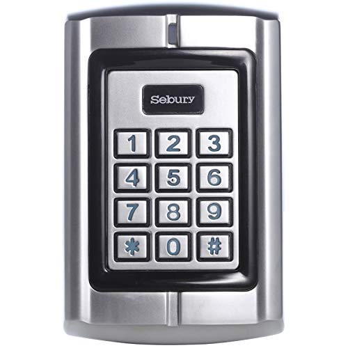 UHPPOTE Metal Shell Waterproof Access Control Keypad Reader with Wiegand 26-37 Interface for 125KHz EM Card