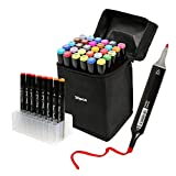 30 Colours Art Sketch Marker Set Twin Markers Broad and Fine Point Colouring Pens for Drawing and Cards Handmade, Office Marking
