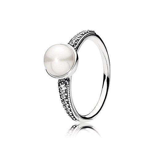 Pandora Damen Ring mit Süßwasserzuchtperle Zeitlose Schönheit