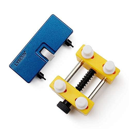 Herramienta para quitar la parte posterior del reloj, abridor de caja de reloj ajustable para reparación de relojes y reemplazo de batería