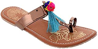 VAMP & WICK Synthetic Metro Flat Sandal for Women