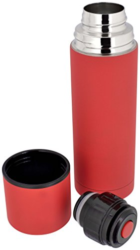Judge J80 Soft Touch thermosfles, wordt geleverd in rood of zwart, 300 ml