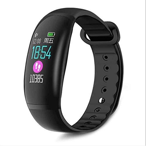 GANG Rastreador de Fitness Pulsera Inteligente, Recordatorio de Inforión Reloj Monitoreo de Salud, Monitoreo de Ritmo Cardíaco Todo el Día Ip67 Profundidad a Prueba de Agua (Negro)