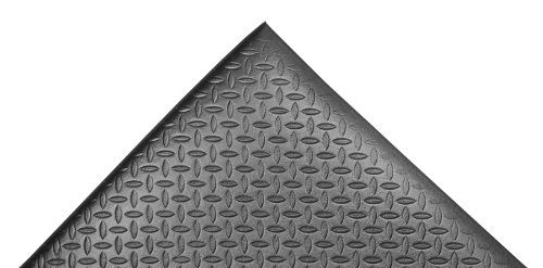 NoTrax 508 PVC Diamond Cushion Anti-Fatigue Floor Mat, 3' Width x 4' Length x 1/2