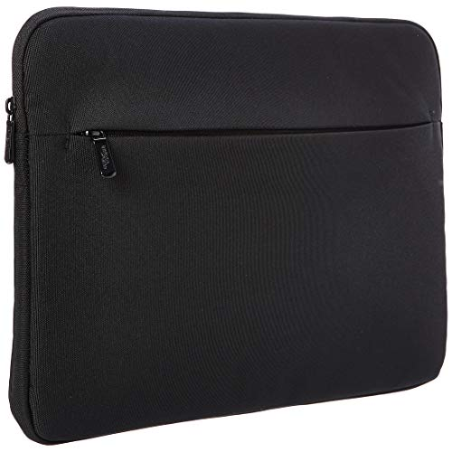 Amazon Basics Laptop Sleeve Case with Front Pocket, 15 Inch (38 cm), Black